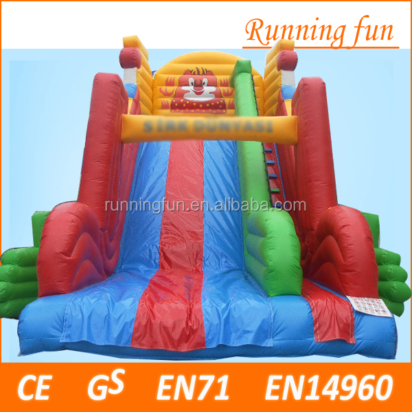 cheap Giant used commercial happy inflatable slide, lovely 18ft inflatable slide