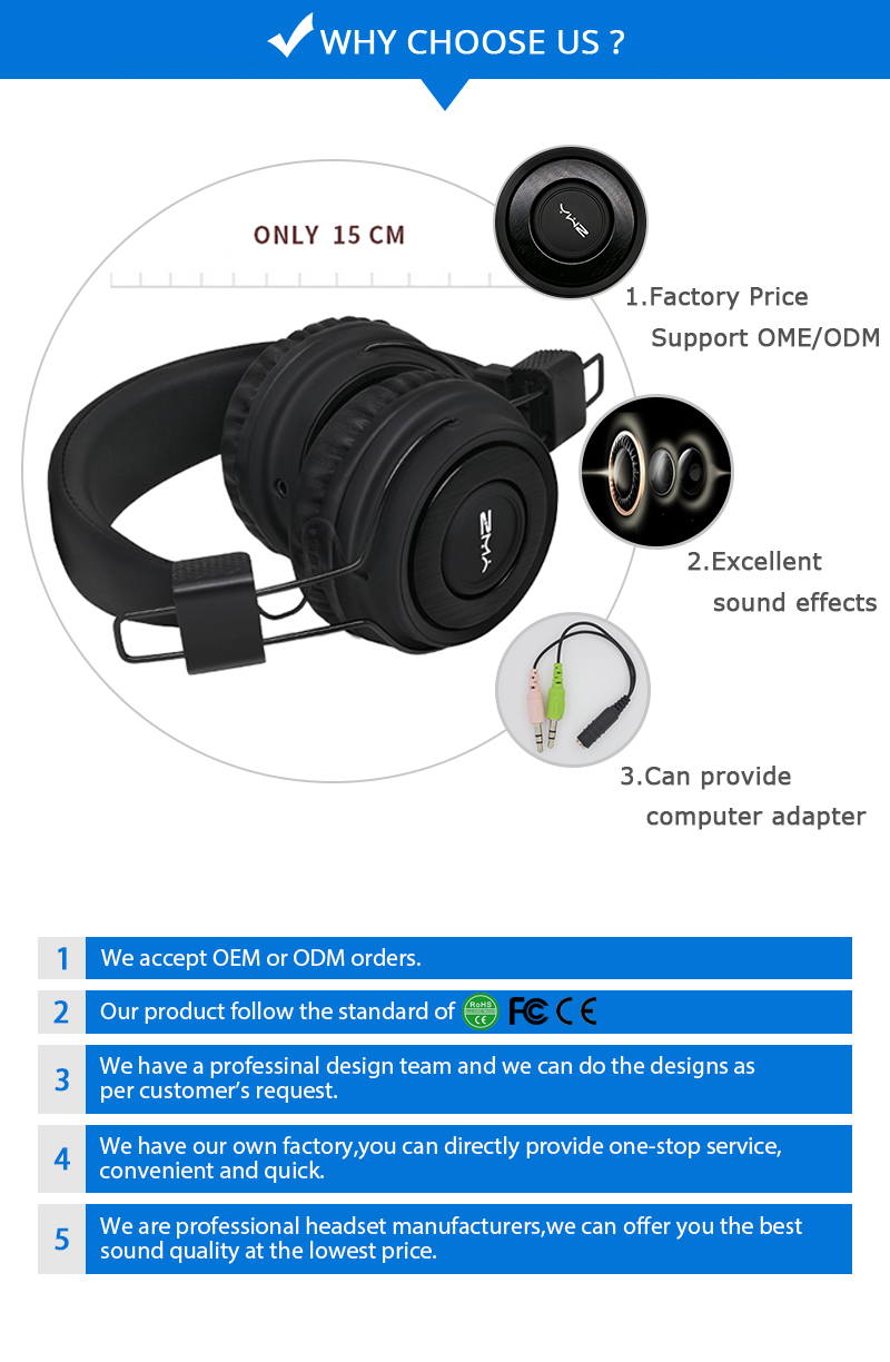 Top 10 brand stylish earphone gaming headset dj stere sport smart standard headphone with mic