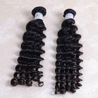 DK Aliexpress Hair Wholesale check out, 3 pcs 14inch deep Big Curl wave malaysian hair weave
