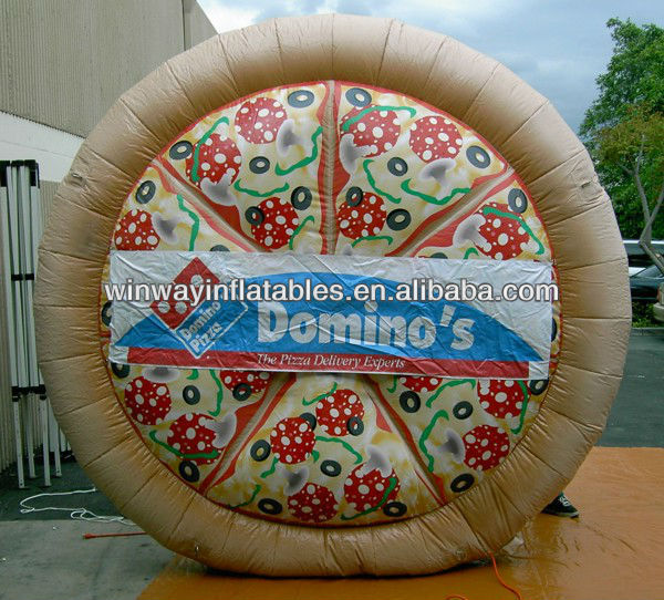 Pizza shape inflatable product replica Y3043