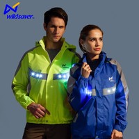 LED light strip windbreaker motorcycle sports lady jacket for skiing outside