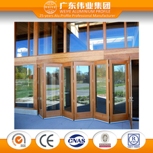 aluminium folding door partition double glass folding doors room