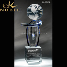 New Design Unique Voyager Colored Art Globe Glass Trophy Award
