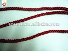 red rayon twist cord