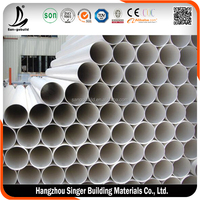 Recycled pvc pipe 400mm, hot sale plastic irrigation pipe