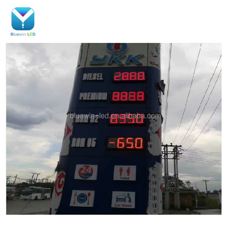 led oil dispenser pump meter electronic controller for fuel dispenser 7segment led display for gas station led price sign