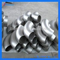 "Factory supply high quality ASTM B363 GR2 12"" X SCH10S Pure/Ti BW Titanium 90 Degree Elbow for Industrial use pipe fittings"