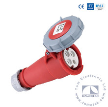 3P+E 4pin IP67 400V 32A industrial electrical plug socket coupler