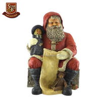 Factory custom made christmas gift resin outdoor christmas santa claus statues