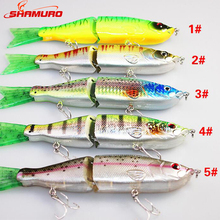 2 Section Glides Swimming Hard ABS Artificial Trout Bass Fishing Lures Live Action Segment Jointed Swimbait Fish Lure