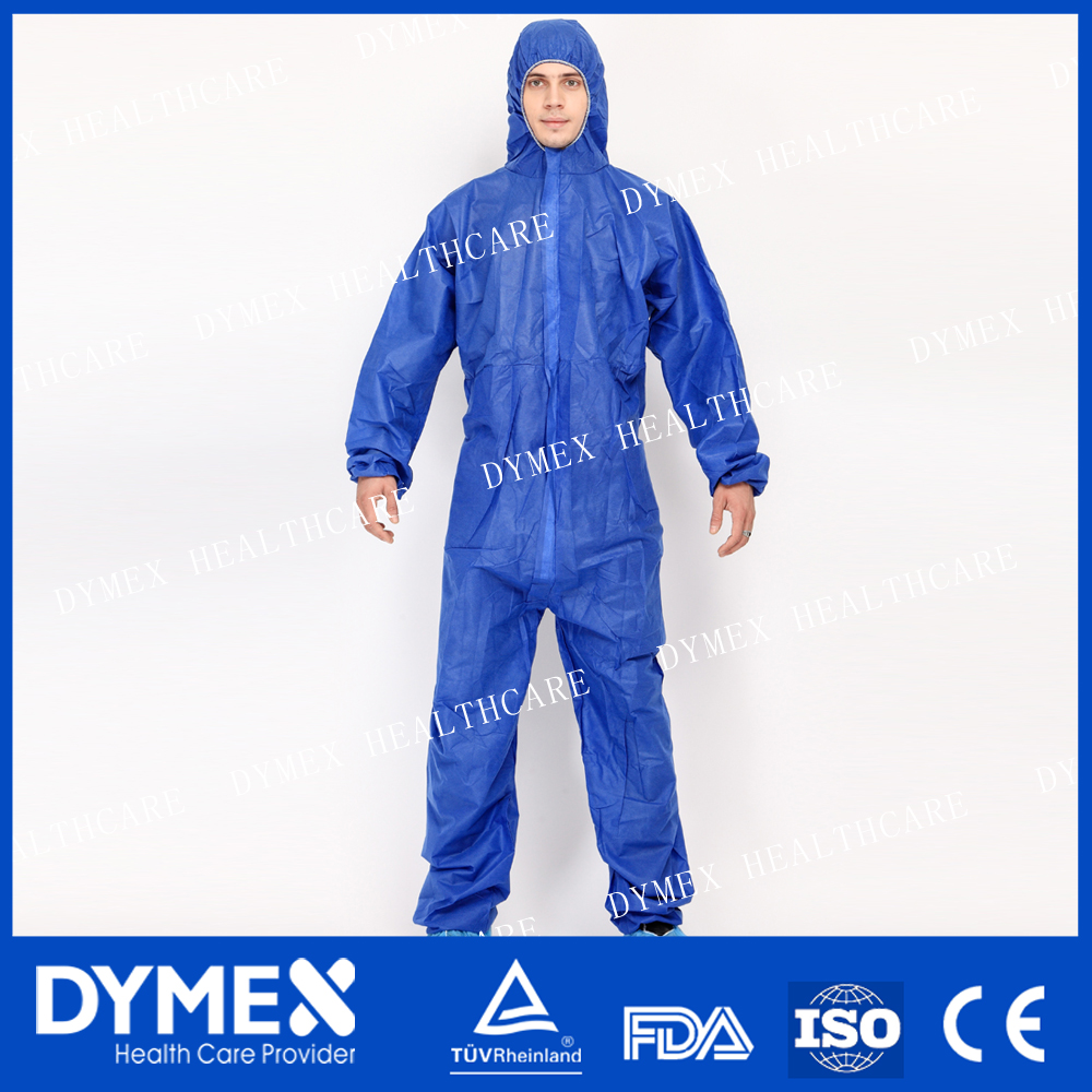 Pharmaceutical Industry Cleanroom Clothing Workwear Suit with Hood Coverall