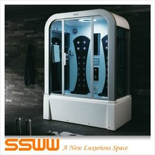 Complete sauna steam room with massage whirlpool bathtub for sale