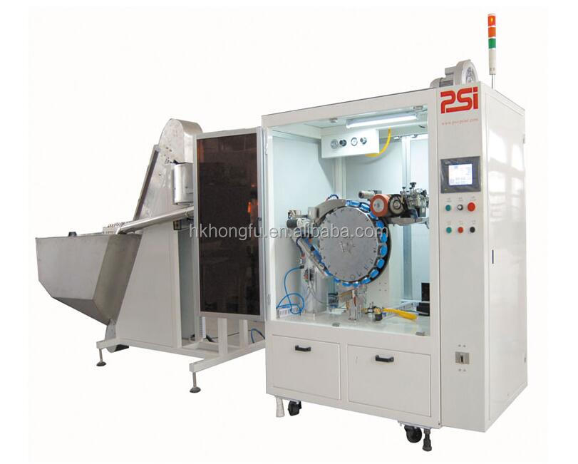 HK R1F automatic bottle cap printing machine for plastic / glass bottles silk screen printing