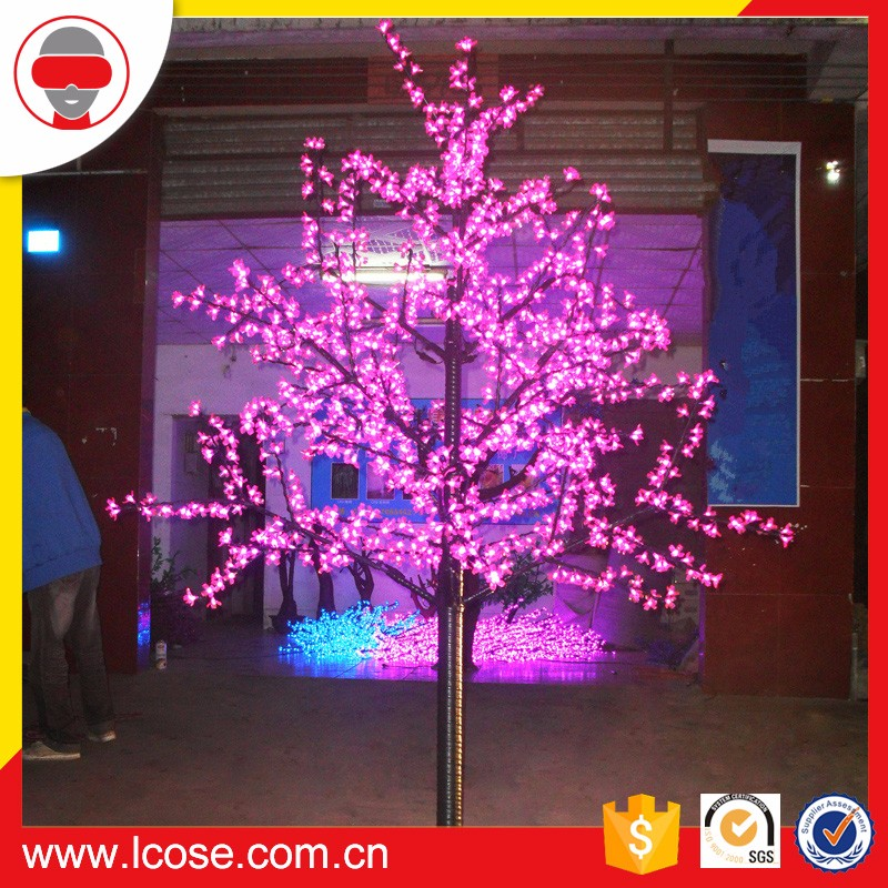 Lcose 1296 LEDs Artificial LED Cherry Christmas Tree 2.5m Garden Decoration
