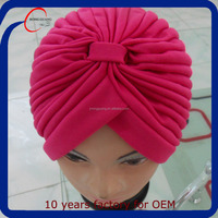 Best price custom fashion islamic muslim women turban hat wholesale