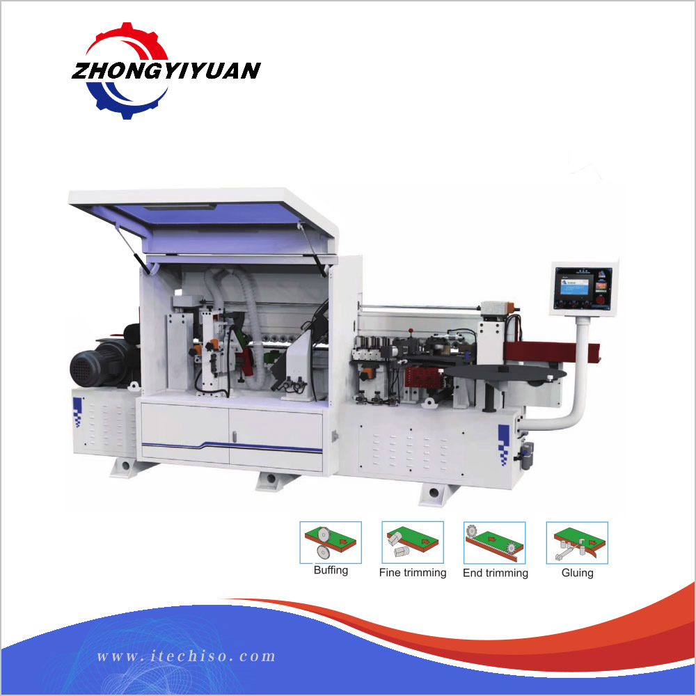 Latest design MFZ601 efficient automatic woodworking edge banding machine