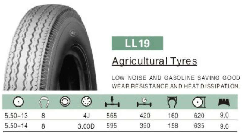 Low rolling resistance Linglong Agricultural Tyre 5.50-13 5.50-14