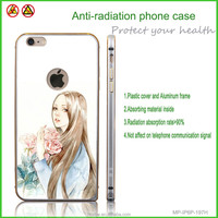 beautiful girl phone cover radiation protective case for mobile phone