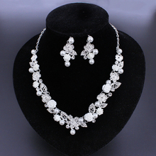 Crystal wedding gift unique bridal jewelry set for ladies