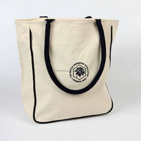 Natural Cotton Carry Bag With Logo