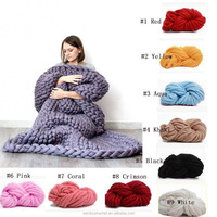 free shipping chunky knit wool blanket