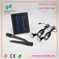 2W Indoor / Home use Solar Rechargeable Energy Power Lighting System