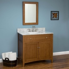Natural solid wood aluminum bathroom vanity, vanity bathroom furniture