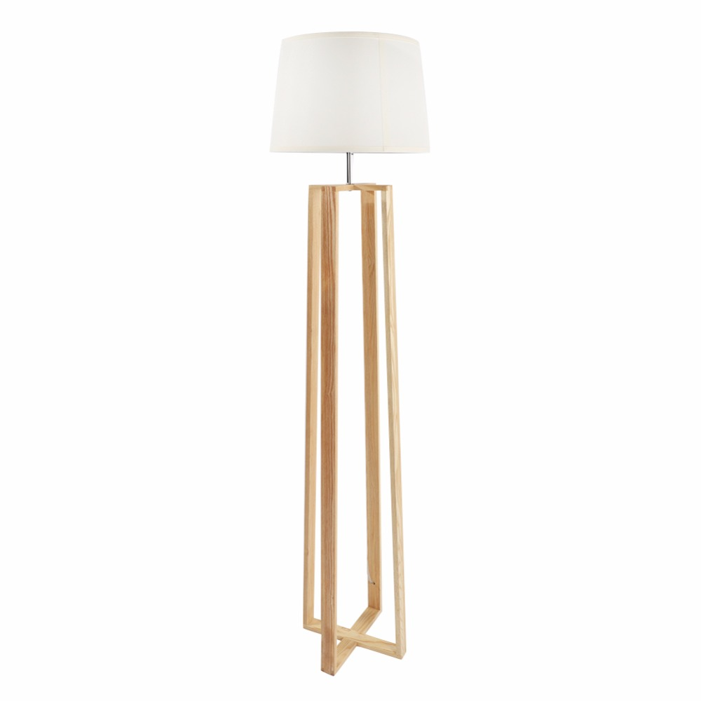 Modern design wooden quadripod floor lamp with high quality for family and hotel decoration