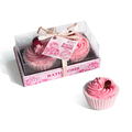 High quality hot sell bath fizzer cupcake spa gift set