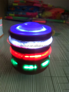 Laser Flash Light Spinning Top Spinner music Song whipping top