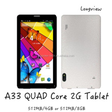 "7"" new 86V tablet 7inch Android A33 Quad Core 2G phone call tablet mid BT front and rear Cameras"