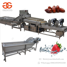 Industrial Ozone Strawberry Apple Washing Line Drying Machine Air Bubble Fruit Vegetable Washer
