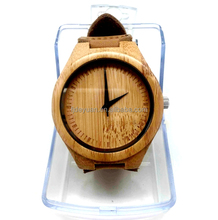 Simple dial design fashion wood watch for women