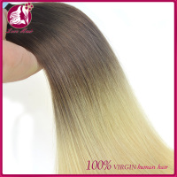 peruvian hair 100% human virgin colored two tone tape hair expression hair braids