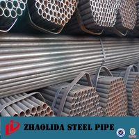 Super quality promotional erw black carbon steel pipe dimension