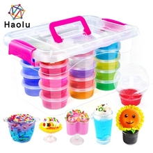 DIY crystal slime making kit non-toxic colourful crystal clime toys wholesale