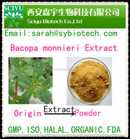 Bacopasides 20%-50% 20:1 herb medicine Brahmi Extract Powder