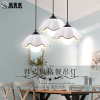 Simple Korean garden dining room entrance lamps creative LED single head bar table ceramic three day restaurant Chandelier