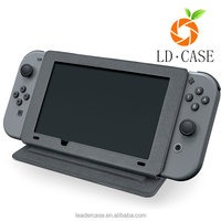 2017 new arrival genuine Leather protective case hybrid cover for Nintendo Switch