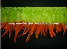 BY-SD01 Two-tone saddle feather fringe trim