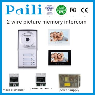 2-wire apartment security system access control panel intercom