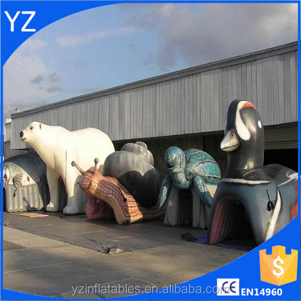 lovely inflatable white bear model, animal character inflatables