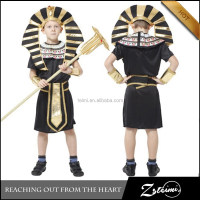 Egypt Pharaoh Egyptian Prince Cosplay Costumes For Children Masquerade Party Dressing Halloween Carnival Costume
