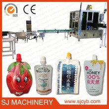 juice drinks spout pouch filling machine / automatic form fill seal pouch packing machine