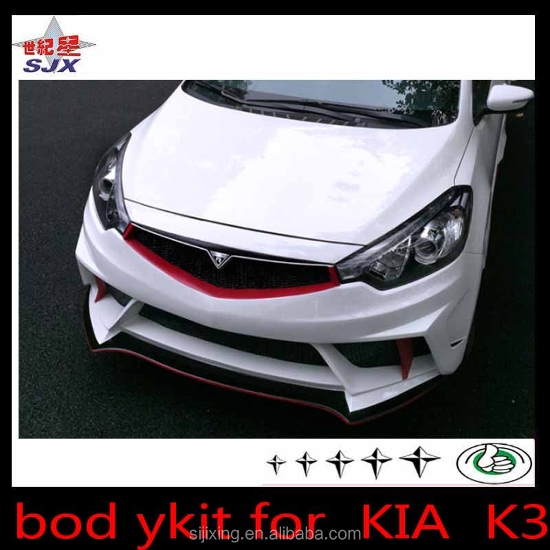 big Body kit for K3 pp plastic rear and front bumper For K IA K3 Optima Bodykit Korea Style Front Lip,Side Skirts,Rear Lip