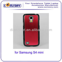 Aluminum Skin hard phone case for Samsung Galaxy S4 Mini i9190 Paypal Acceptable