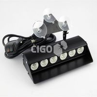 CIGO S6 6W 12v universal led car strobe flashing light with controller