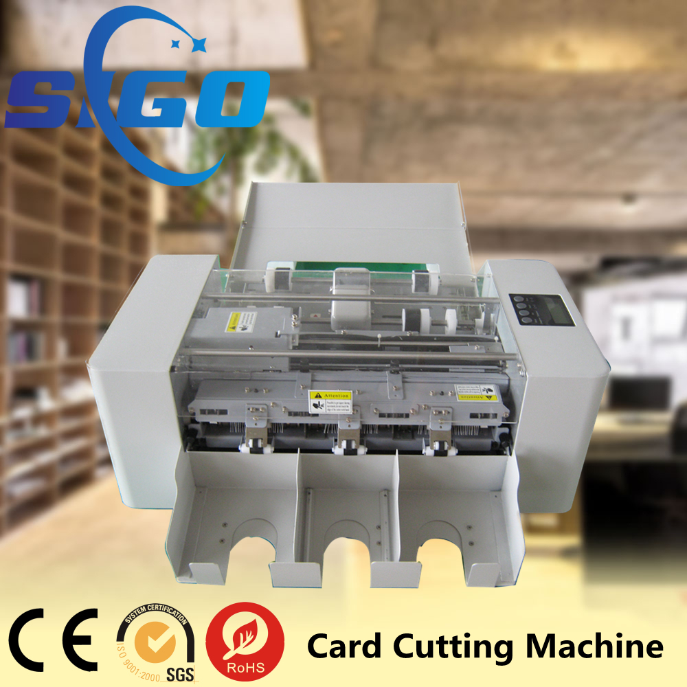SG-002-I electric card slitter pvc business card cutter