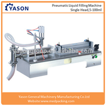 10-300ml Single Head Pneumatic Vials Liquid Softdrink Sachet Filling Machine