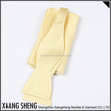 factory cheap customized design silk self tie bow tie